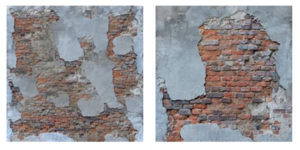 매직포니의 인공지능 기술을 보여주는 이미지. 왼쪽 그림을 바탕으로 벽의 질감 등을 살린 오른쪽 이미지를 재구성했다. - 매직포니 제공